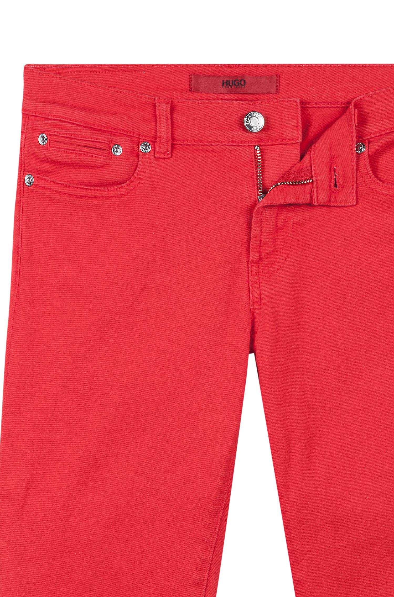 Skinny-Fit Jeans mit Reißverschlüssen hinten am Saum, Pink