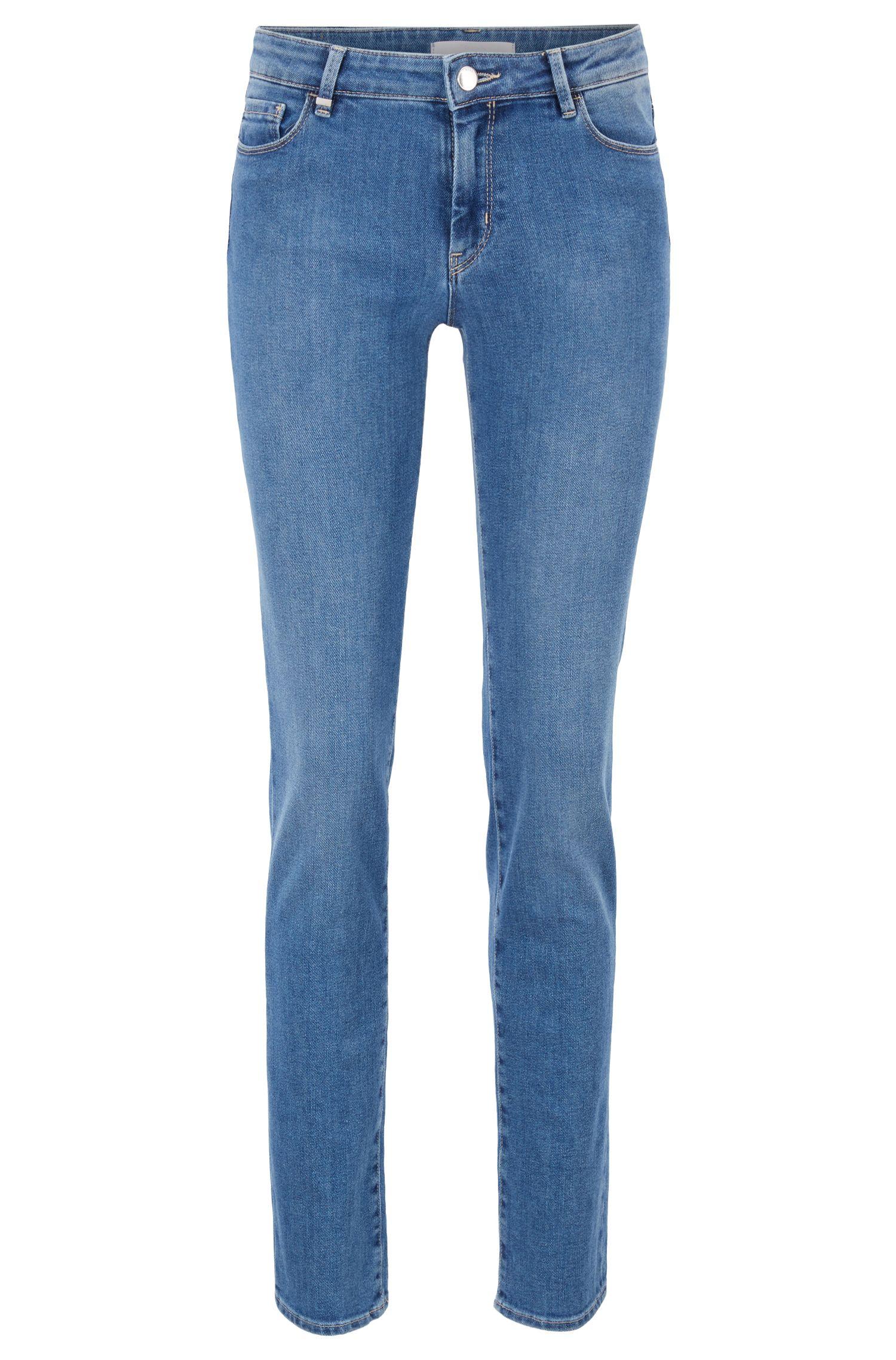 Jean Slim Fit en denim stretch confortable bleu, Bleu