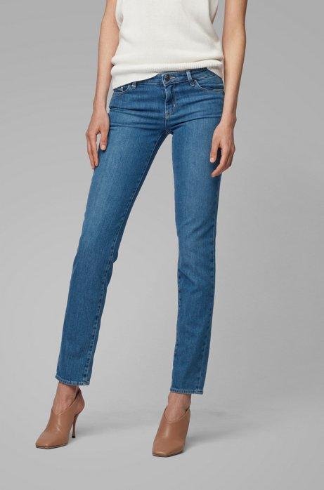 Slim-Fit Jeans aus komfortablem Stretch-Denim, Blau