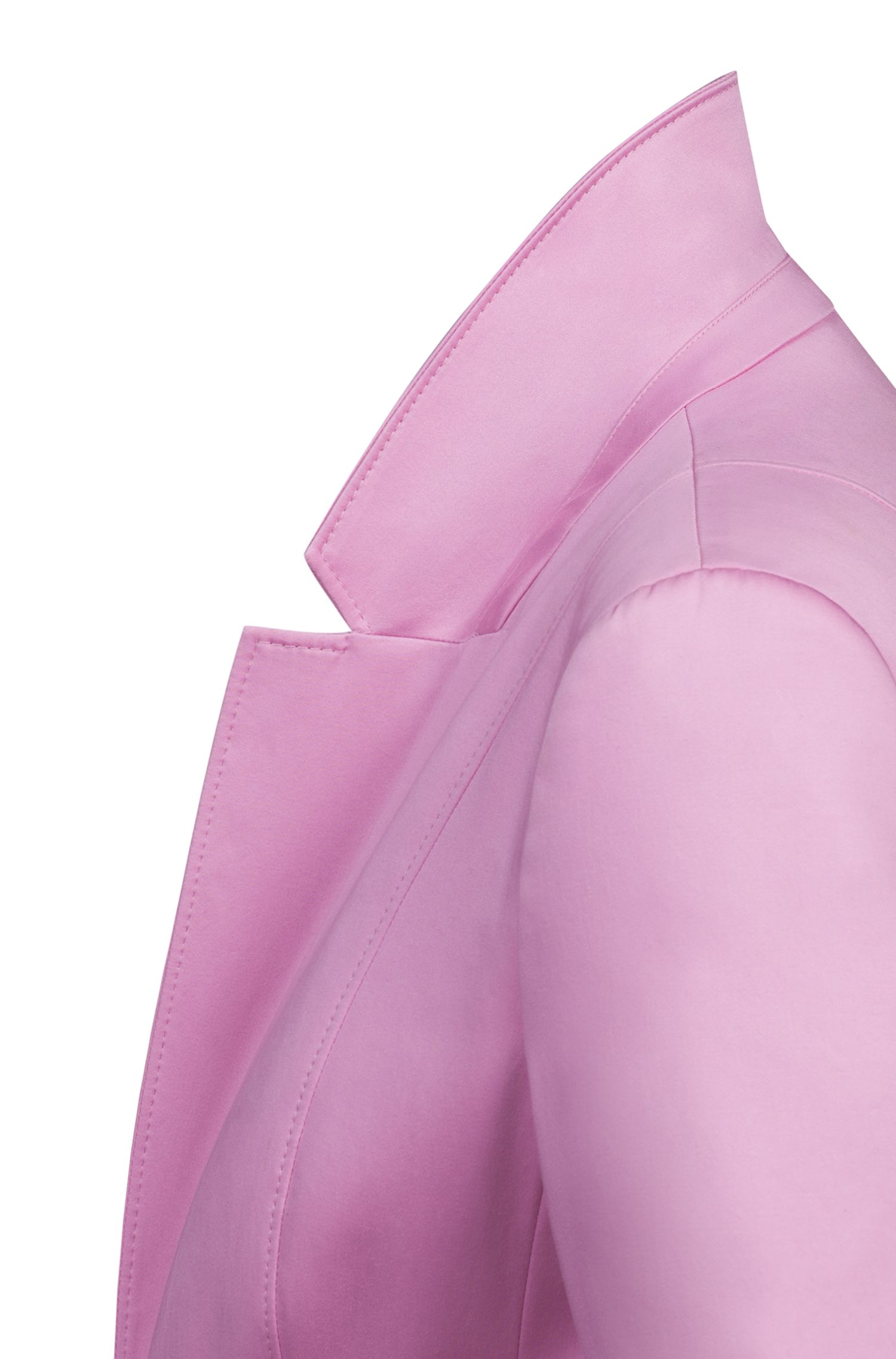 Regular-fit jacket in stretch cotton with stitching details, Pink
