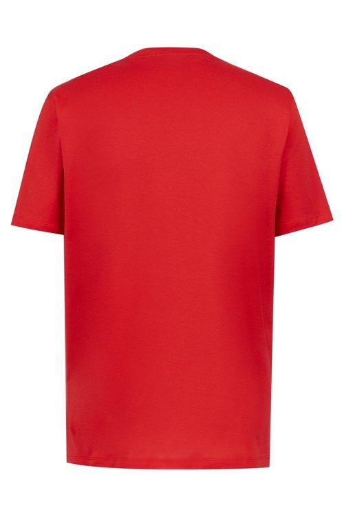 Hugo Boss - T-Shirt aus Baumwolle mit Reversed-Logo und Rundhalsausschnitt - 4
