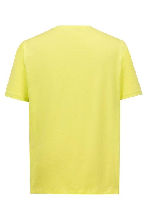 Hugo Boss - Camiseta de algodón con cuello redondo y estampado de logo invertido - 4