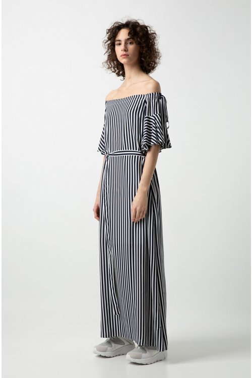 Hugo Boss - Relaxed-fit striped dress with bow details - 2