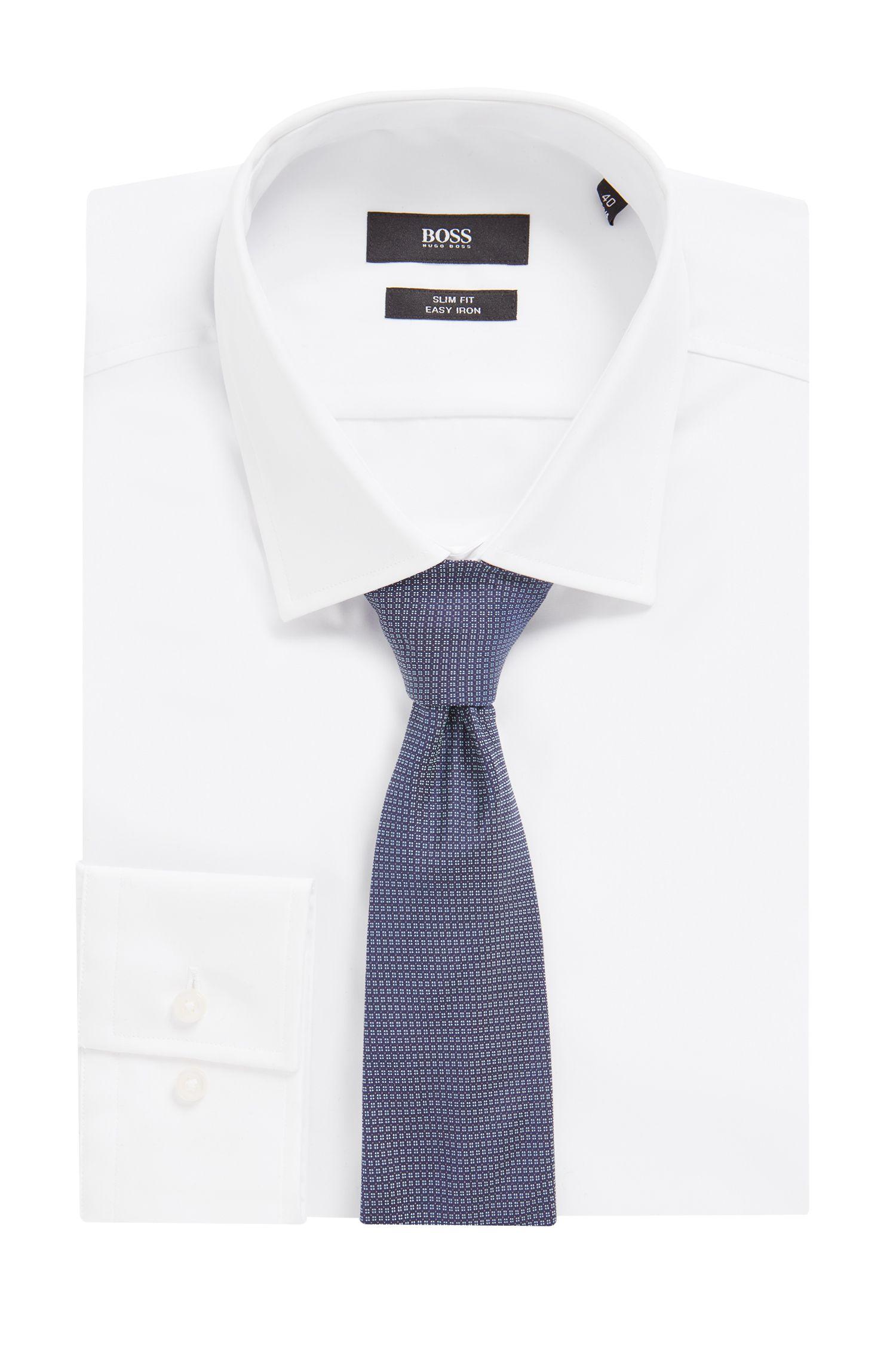 Gemusterte Krawatte aus Seiden-Jacquard, Hellblau
