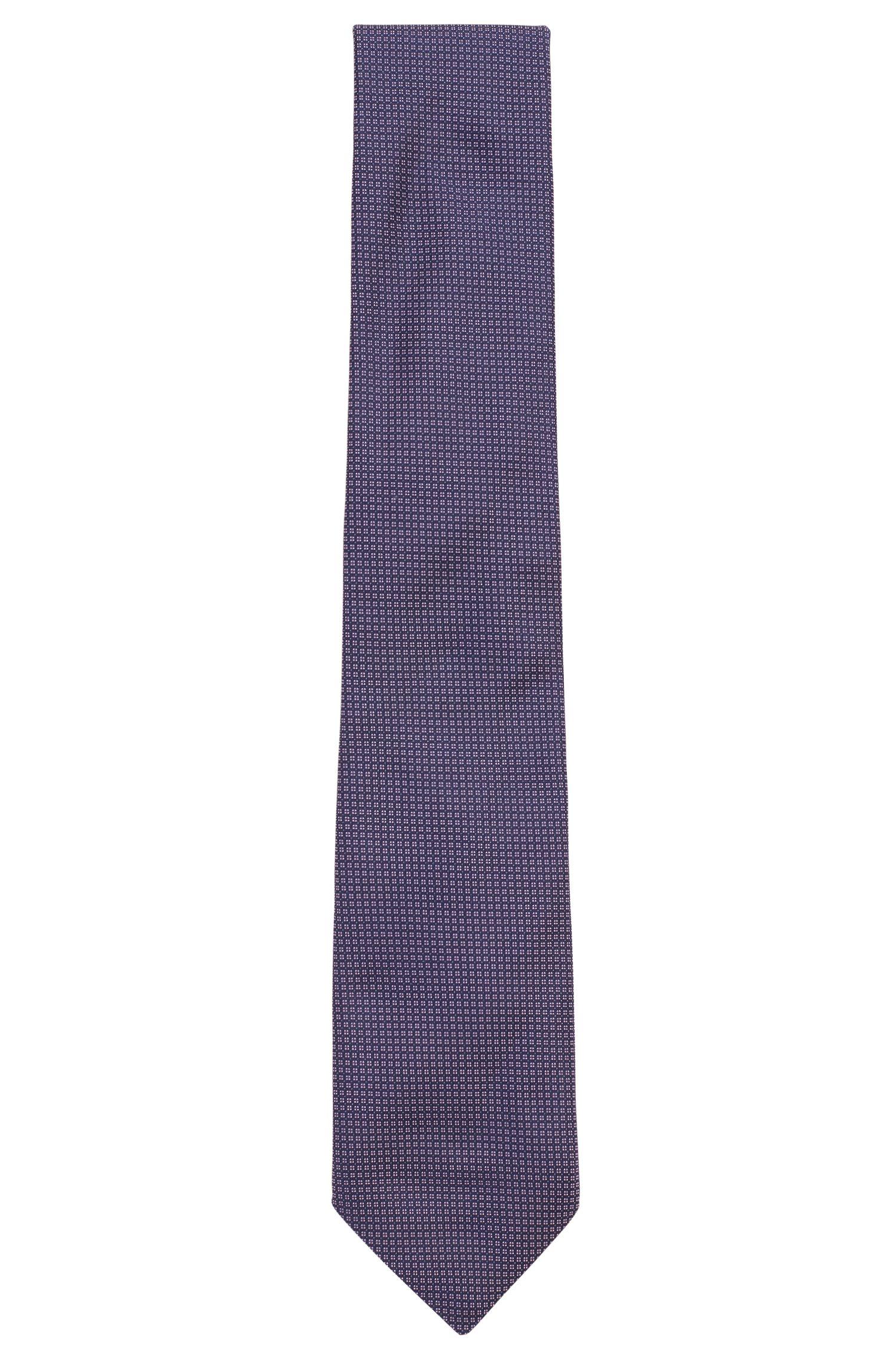 Cravatta in seta jacquard con microdisegno, Rosa chiaro