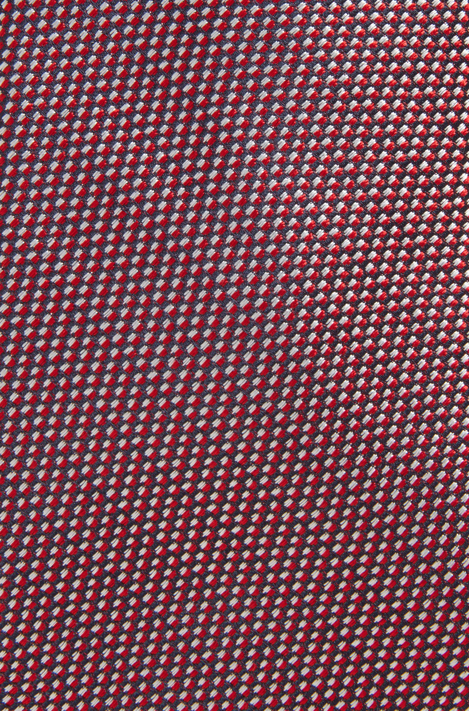 Silk tie with a micro pattern, Red