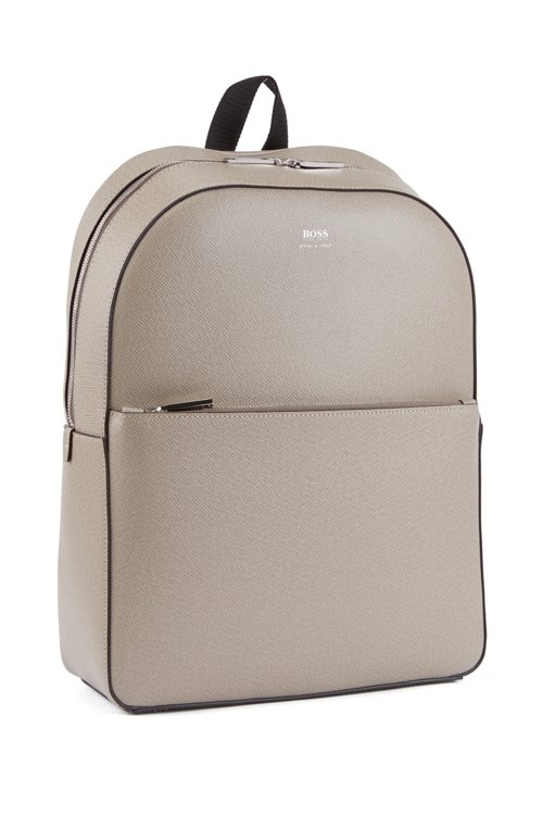 Hugo Boss - Signature Collection backpack in printed Italian calf leather - 4
