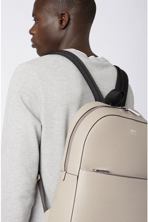 Hugo Boss - Signature Collection backpack in printed Italian calf leather - 3