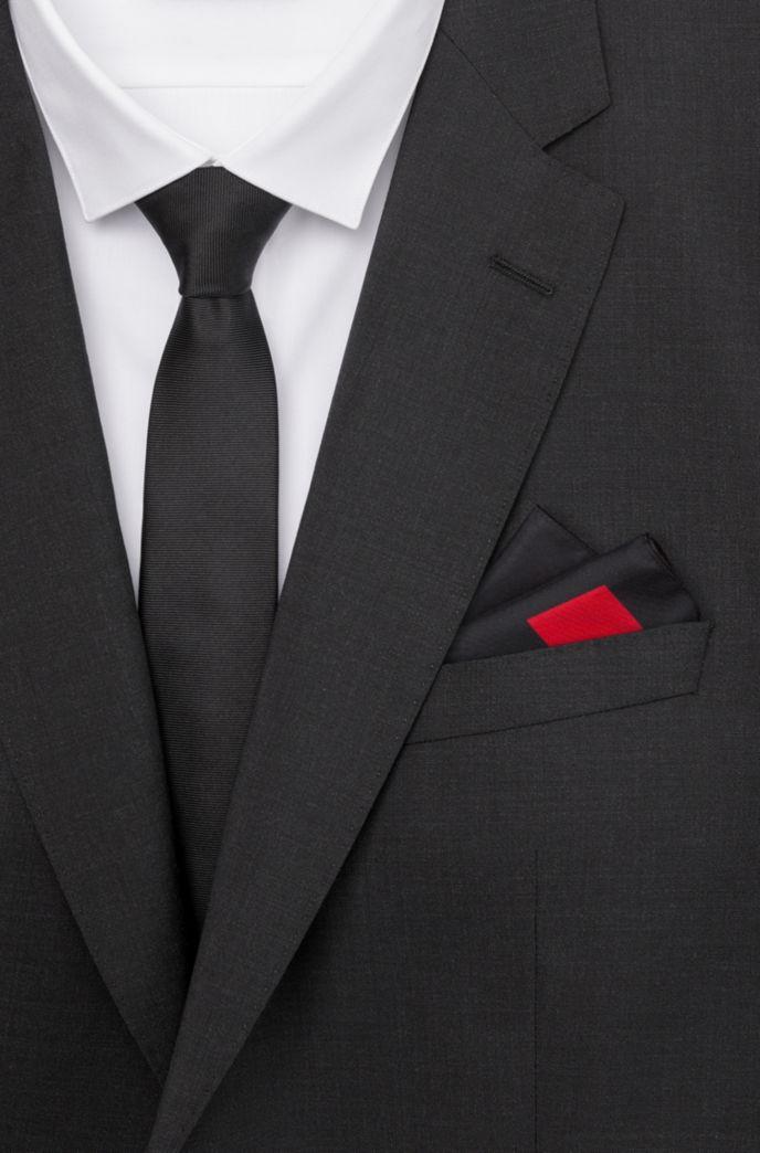 Pañuelo de bolsillo de seda pura con estampado de logo