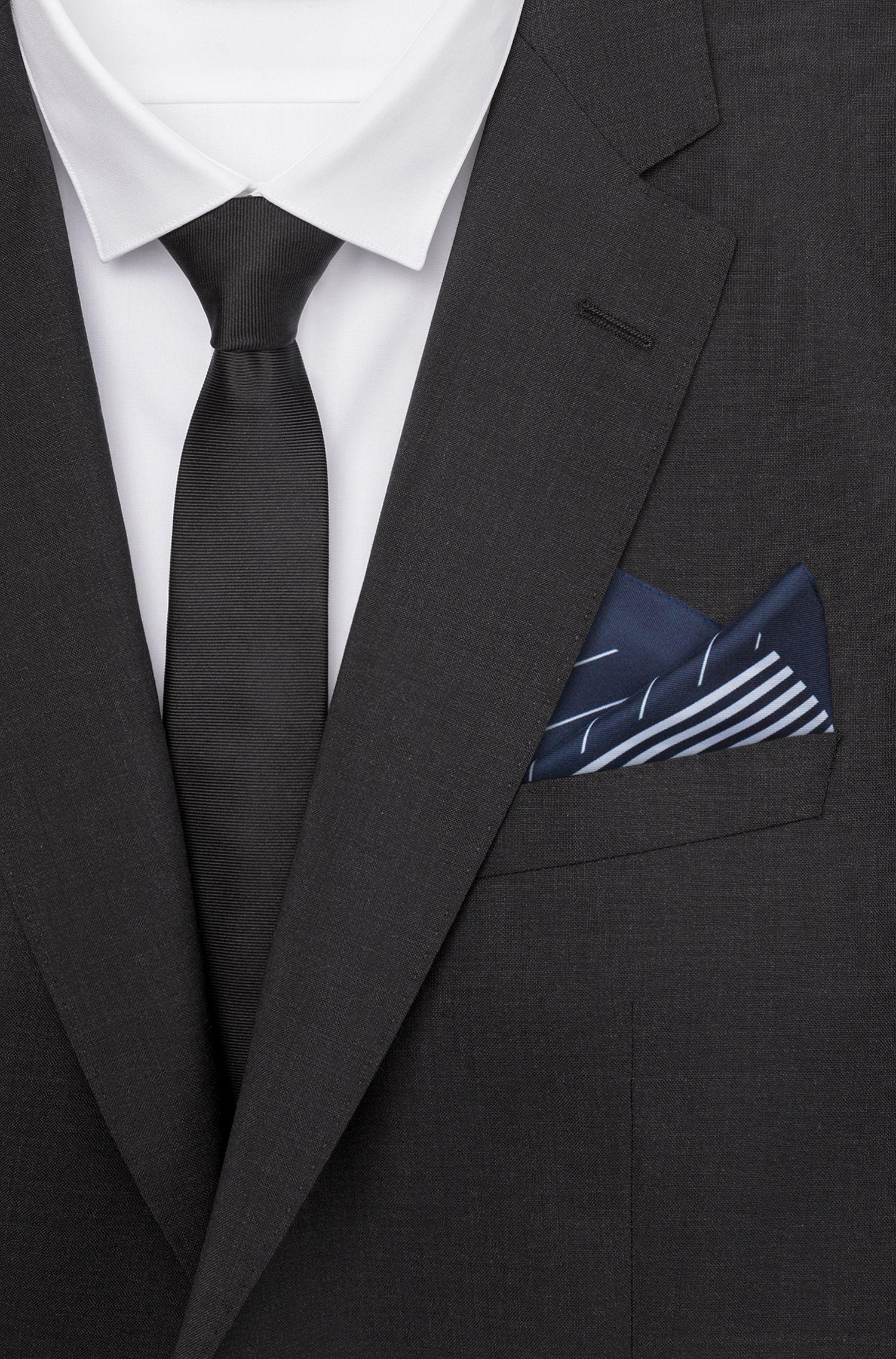 Hugo Boss - Pañuelo de bolsillo con rayas irregulares - 2