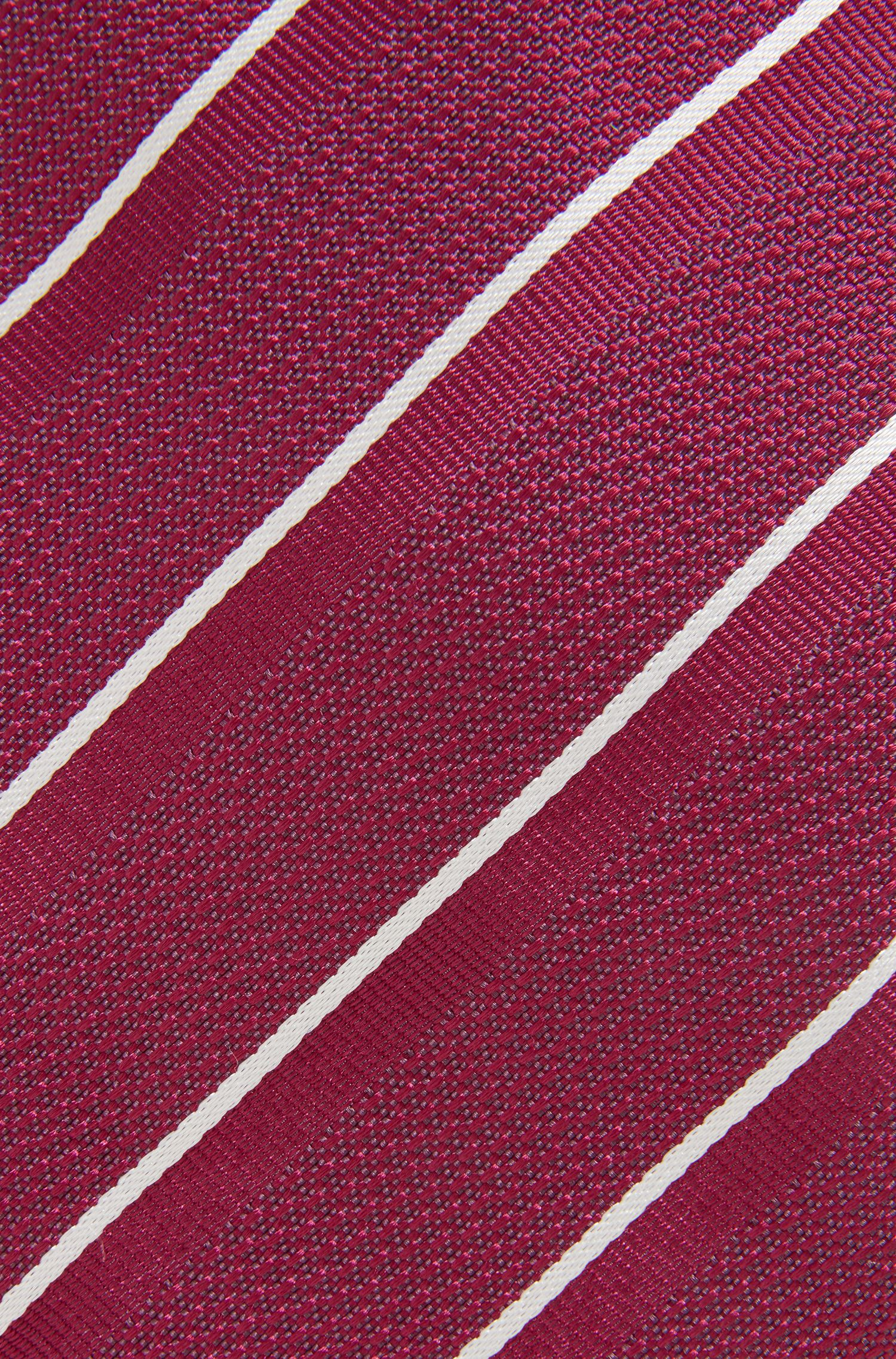 Cravatta in seta a righe diagonali, Rosa