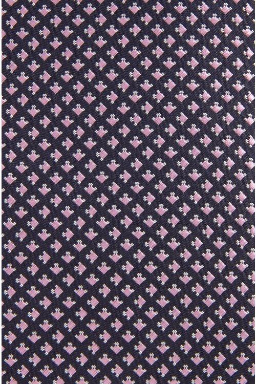 Hugo Boss - Corbata de seda fabricada en Italia con diseño geométrico microestampado - 3