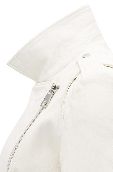 女士时尚夹克外套,  118_淡白色