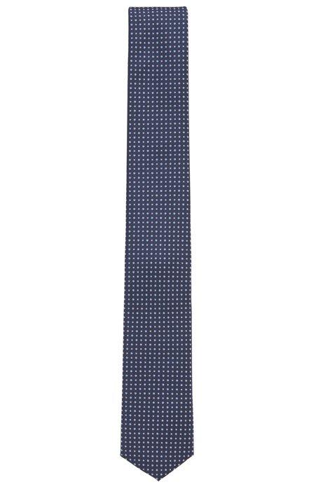 Stropdas van waterafstotende zijde met microdessin, Lichtblauw