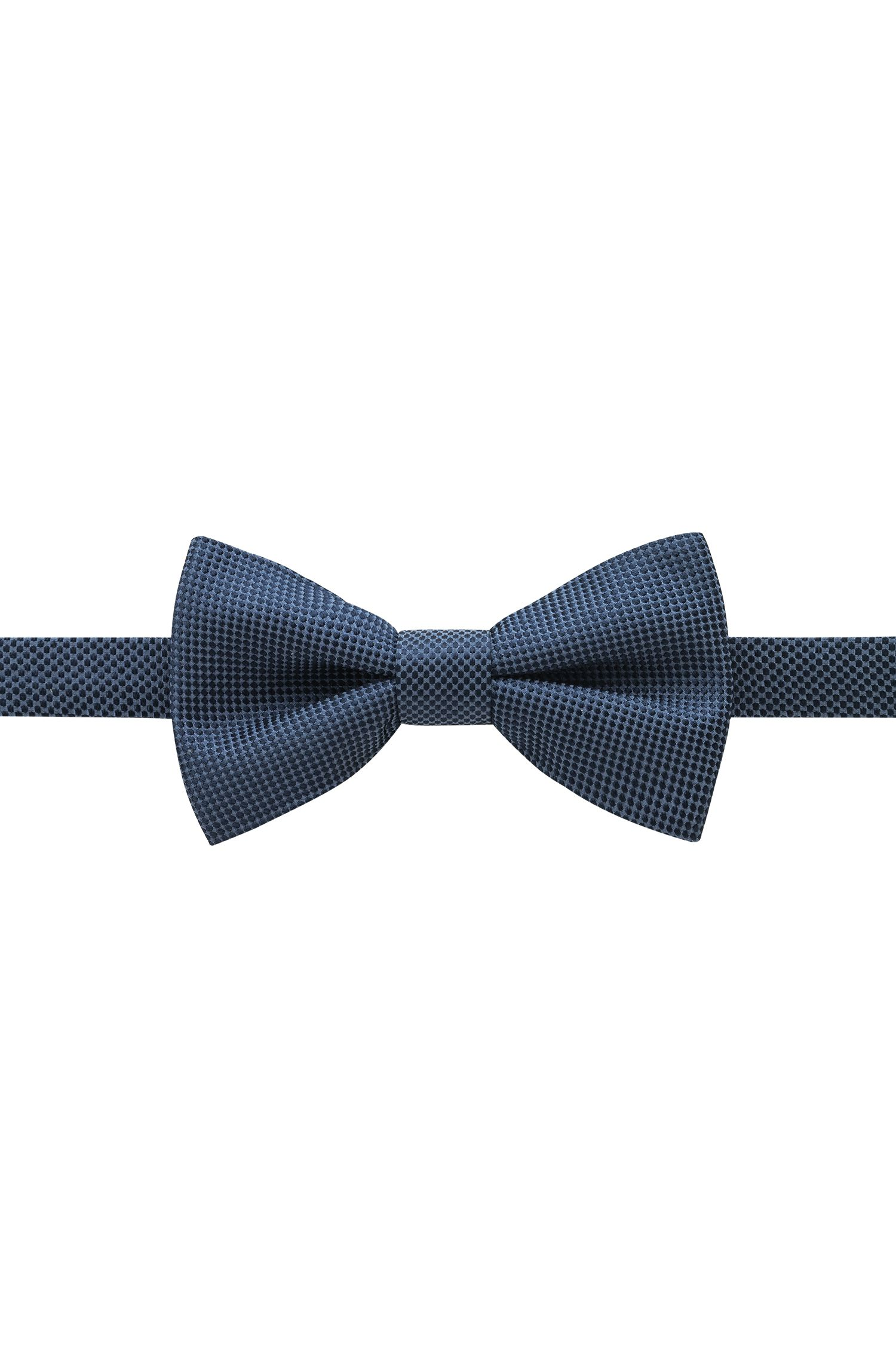 Micro-pattern bow tie in silk jacquard, Patterned