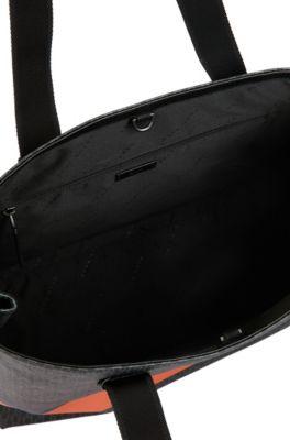 01c4925c88b11 BOSS - Tote Bag mit Monogramm-Print und Blockstreifen