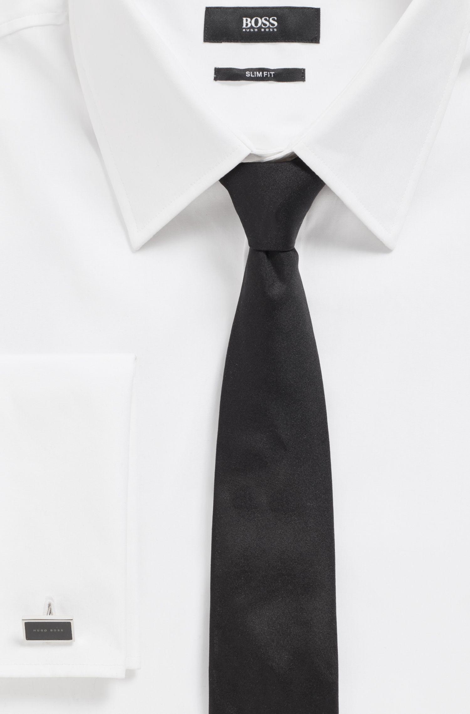 Rechteckige Manschettenknöpfe aus Messing mit Emaille und Logo, Schwarz