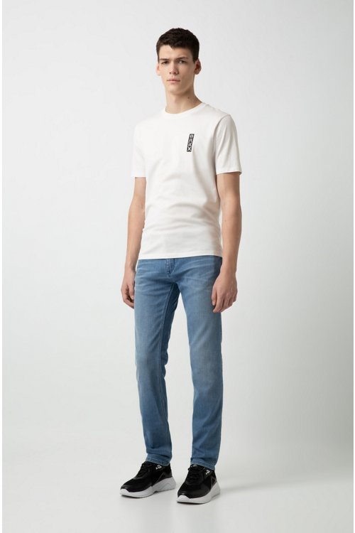 Hugo Boss - Camiseta de cuello redondo en algodón con logo de HUGO cortado - 2