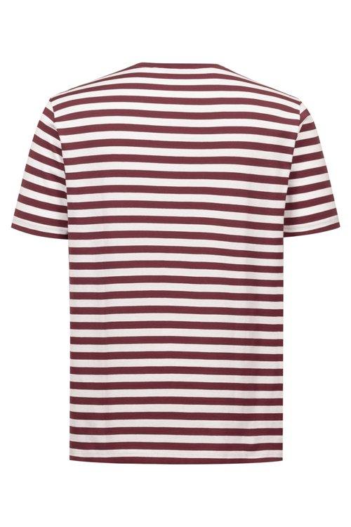 Hugo Boss - Gestreiftes T-Shirt aus Single Jersey mit Reversed-Logo - 4