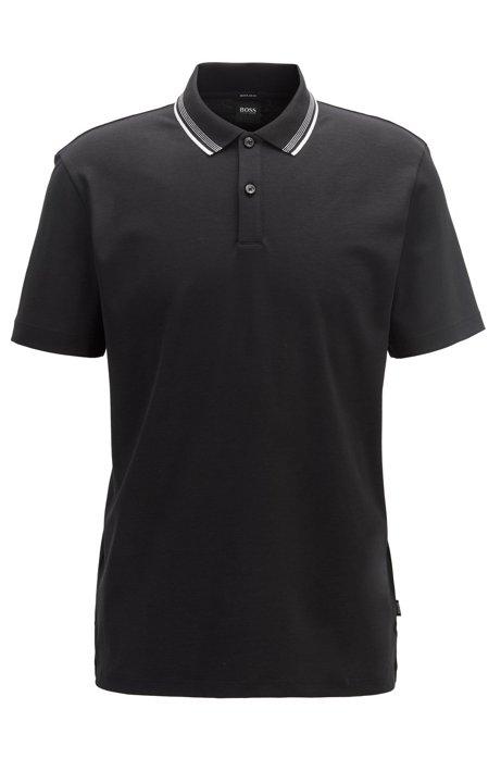 Poloshirt aus Interlock-Baumwolle..., Schwarz