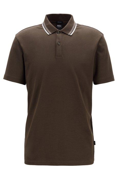 Poloshirt aus Interlock-Baumwolle..., Dunkelgrün