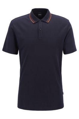 Poloshirt aus Interlock-Baumwolle..., Dunkelblau
