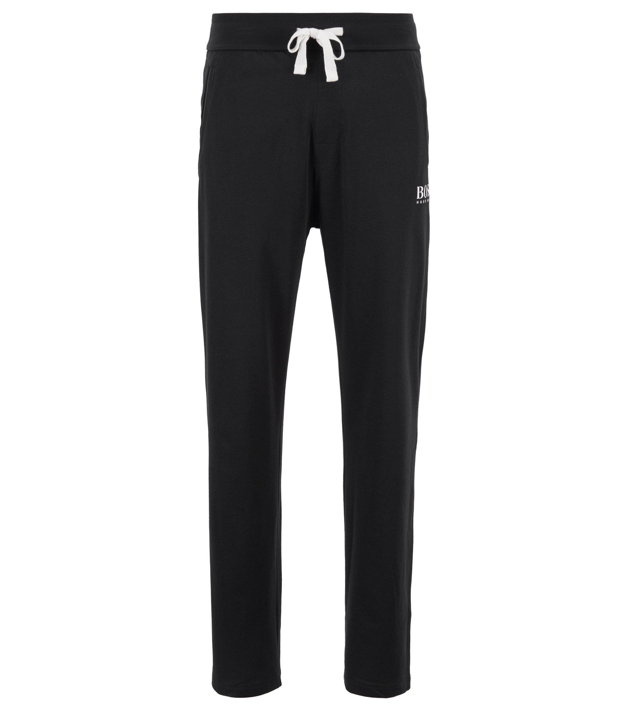 Loungewear-Hose aus schwerem Single Jersey, Schwarz