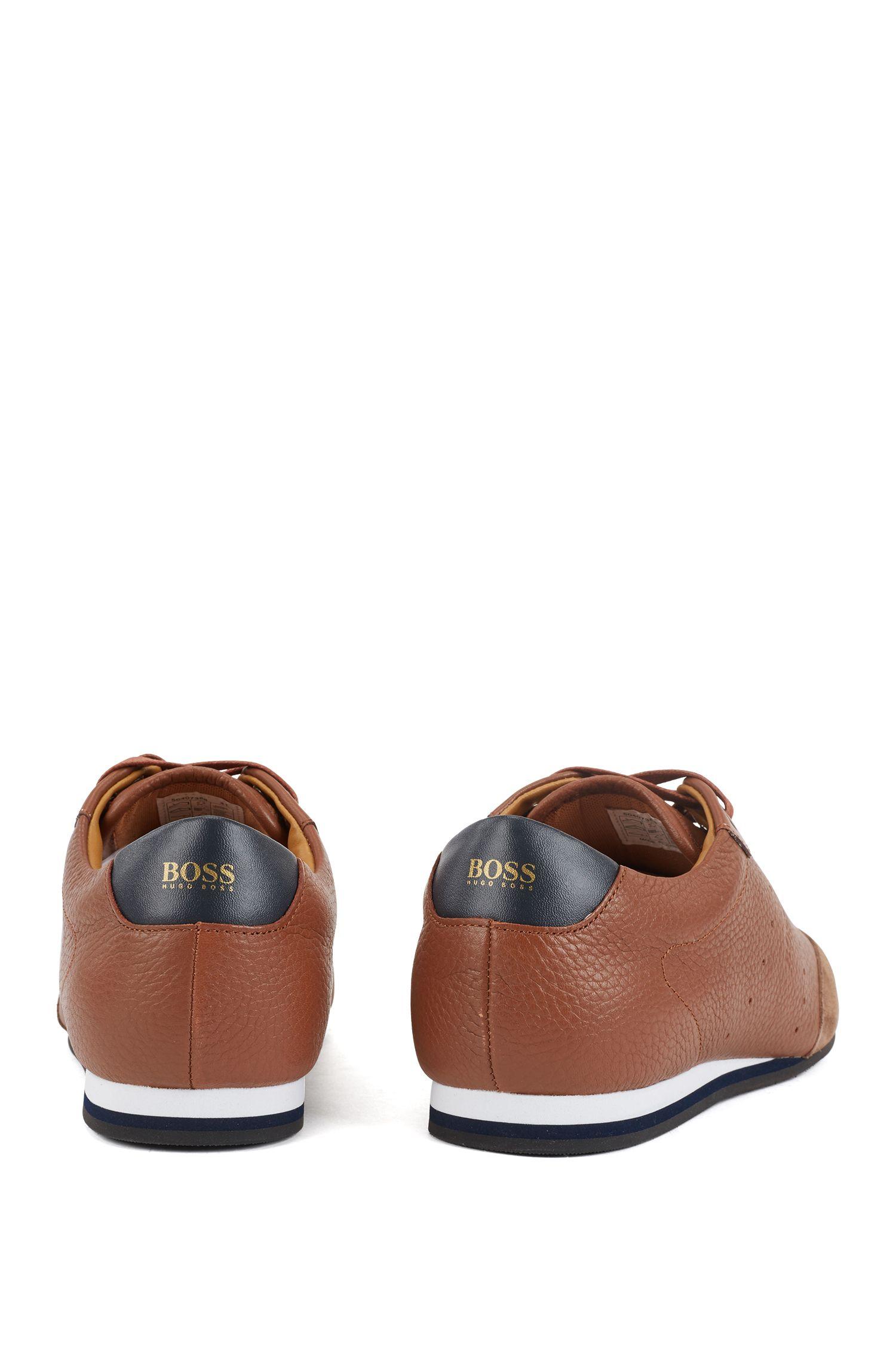 Hugo Boss - Lowtop Sneakers aus Veloursleder und gewalktem Leder - 6