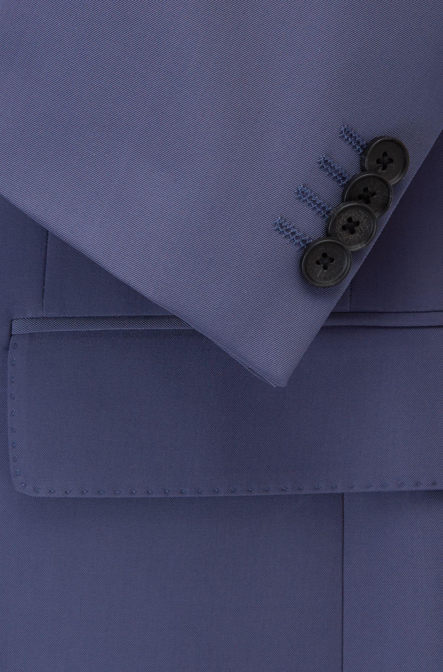 Zweireihiger Slim-Fit Anzug aus Stretch-Gewebe, Hellblau