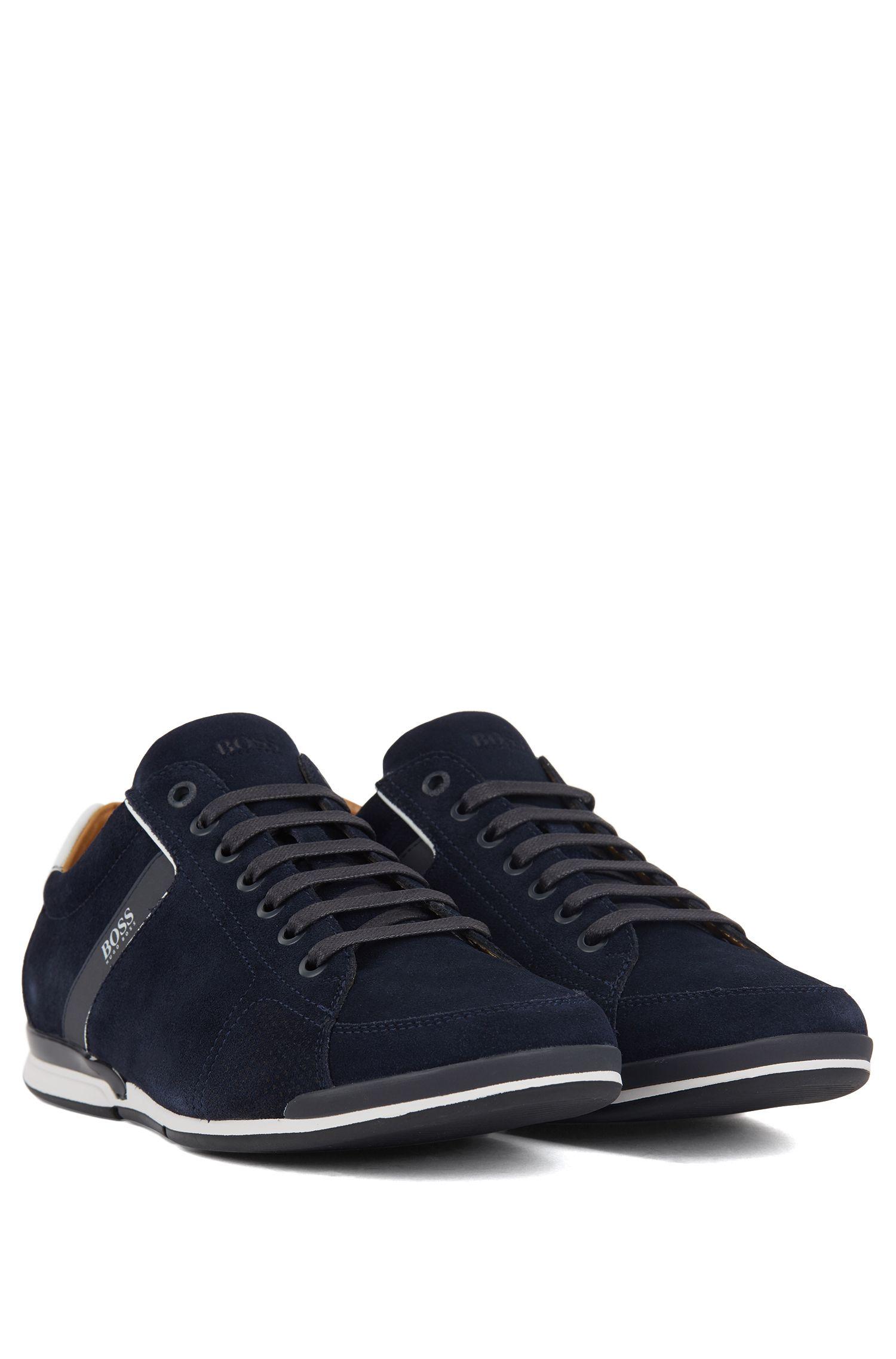 Sneakers aus Veloursleder mit speziellem Innenfutter, Dunkelblau