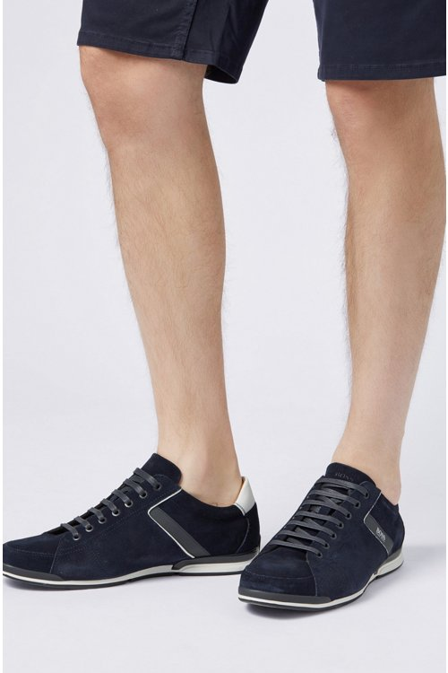 Hugo Boss - Sneakers aus Veloursleder mit speziellem Innenfutter - 4