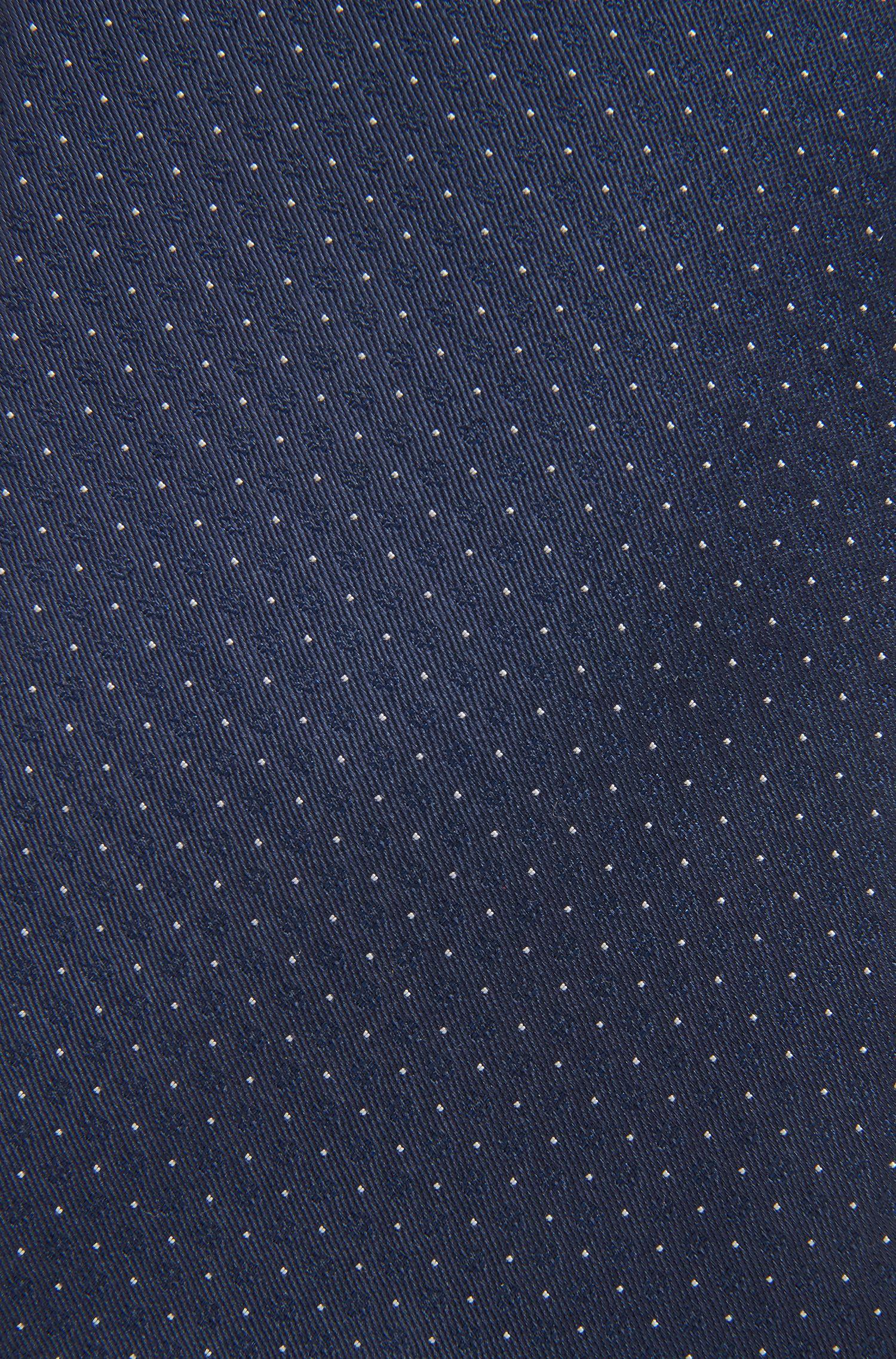 Cravatta in misto seta jacquard a microdisegni, Celeste