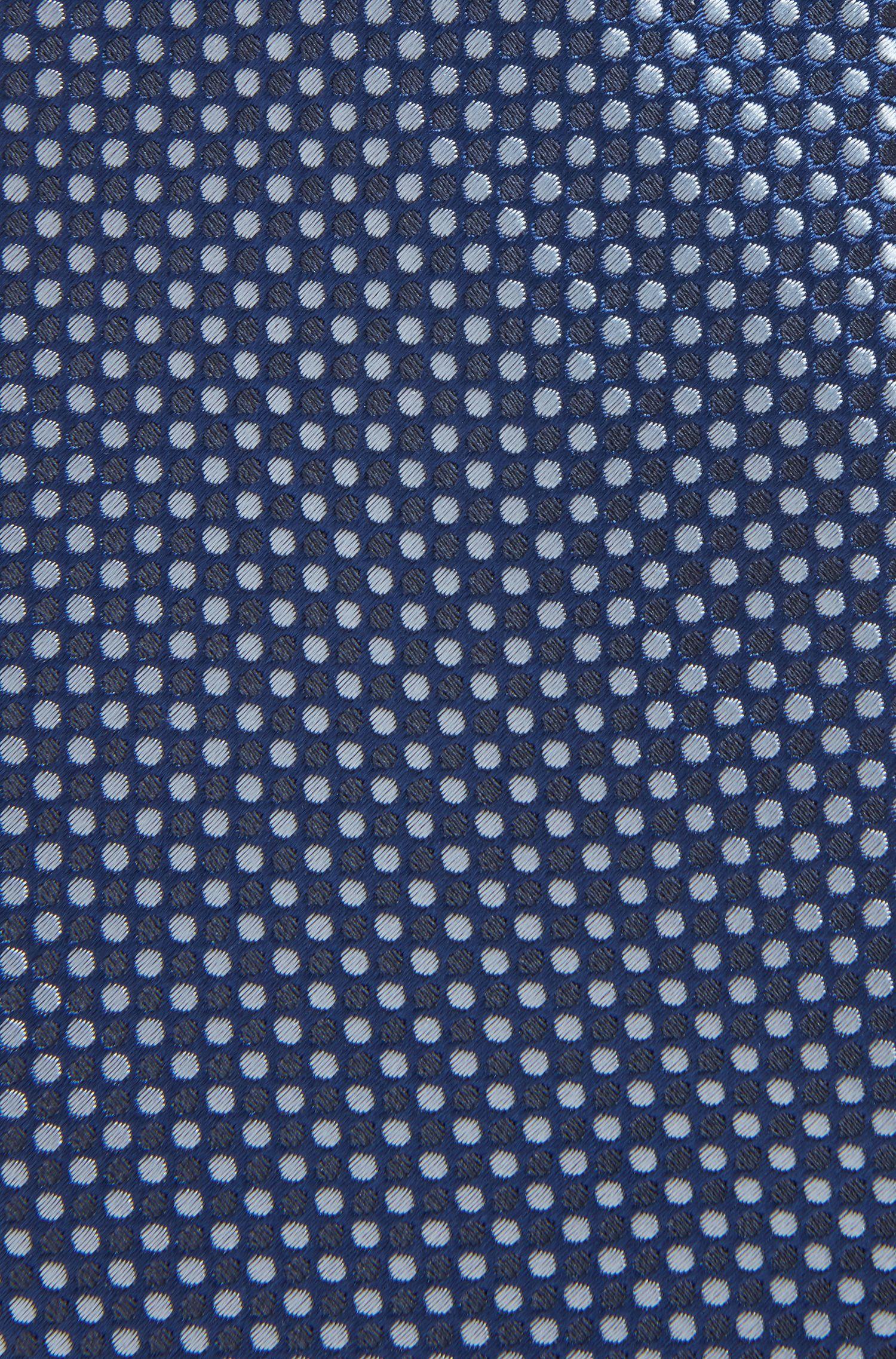 Gepunktete Krawatte aus Seiden-Mix, Hellblau