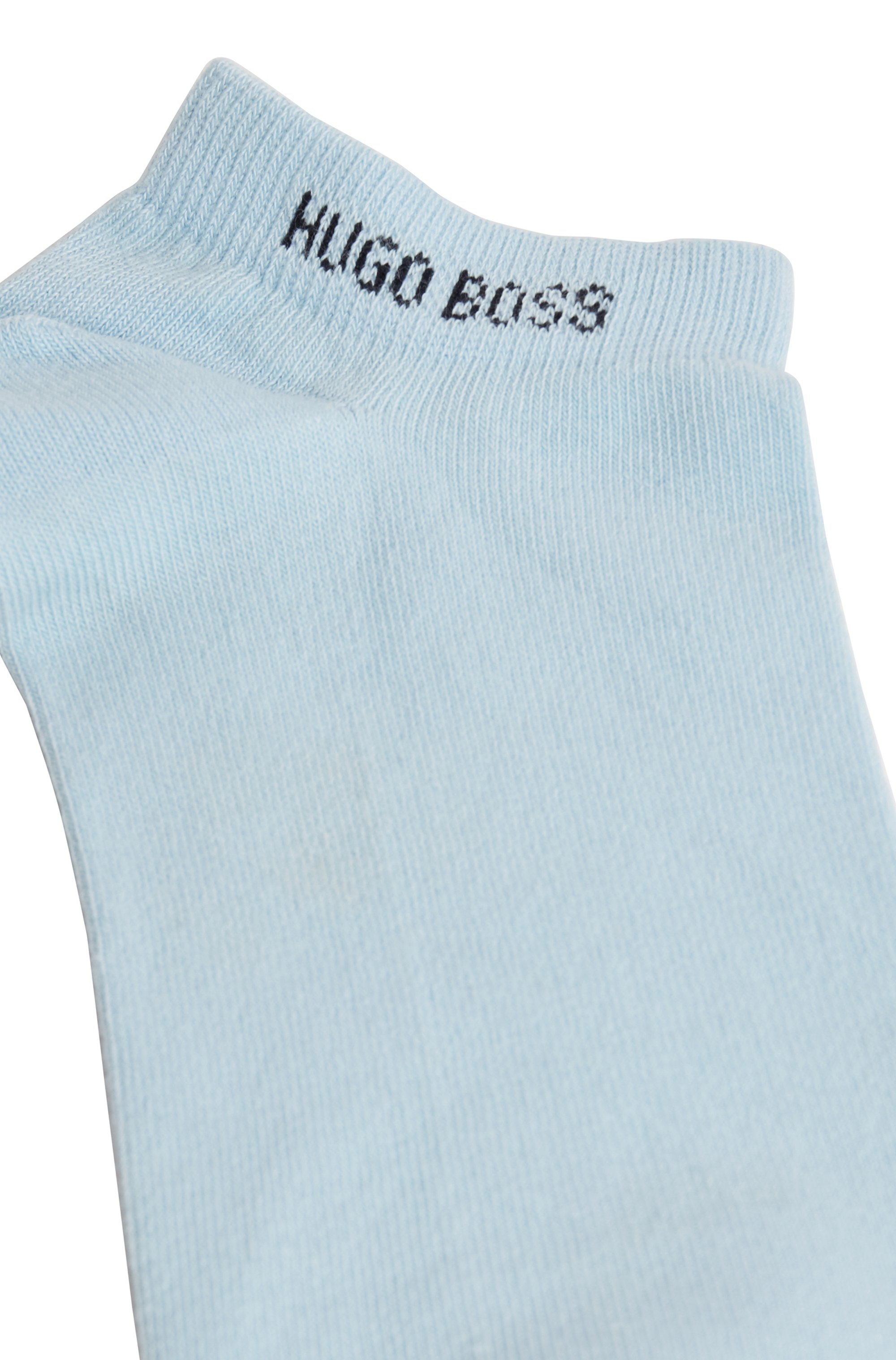 Two-pack of ankle socks in a cotton blend