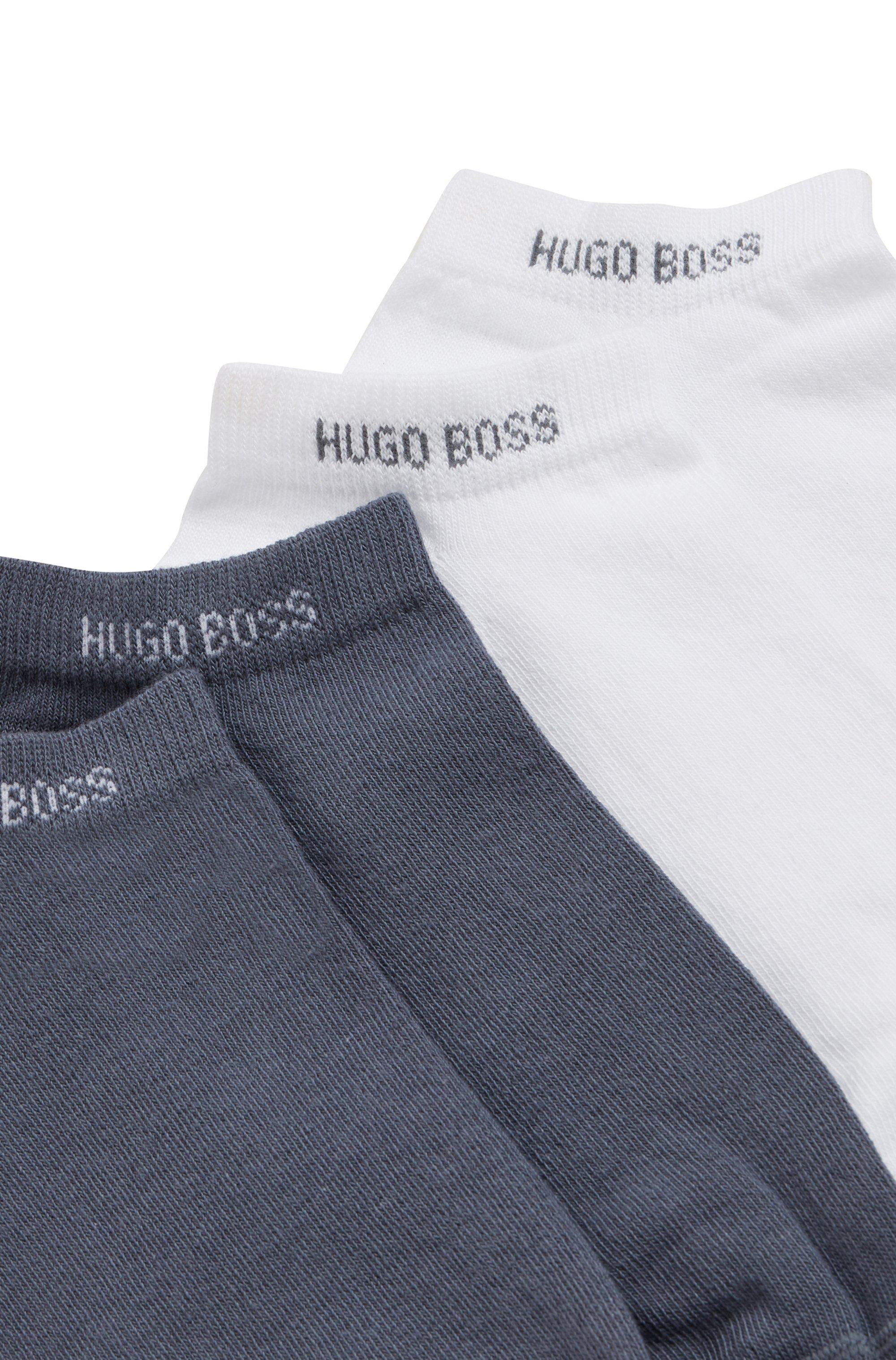 Zweier-Pack Sneakers-Socken aus elastischem Baumwoll-Mix