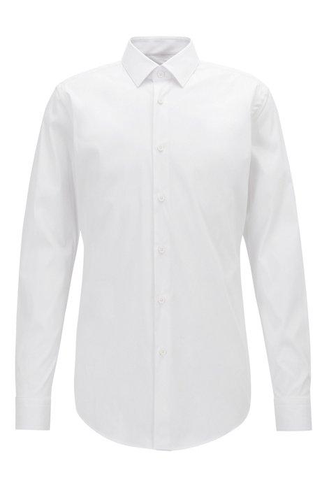Extra slim-fit overhemd van een katoenmix, Wit
