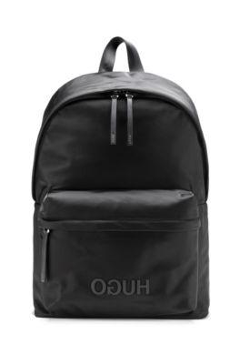 Modern und elegant in der Mode Sortendesign Bestpreis Rucksack aus strukturiertem Nylon mit Reversed-Logo und Griff