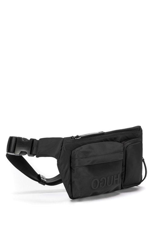 Hugo Boss - Riñonera de tejido de gabardina de nylon con logo invertido y varios bolsillos - 4