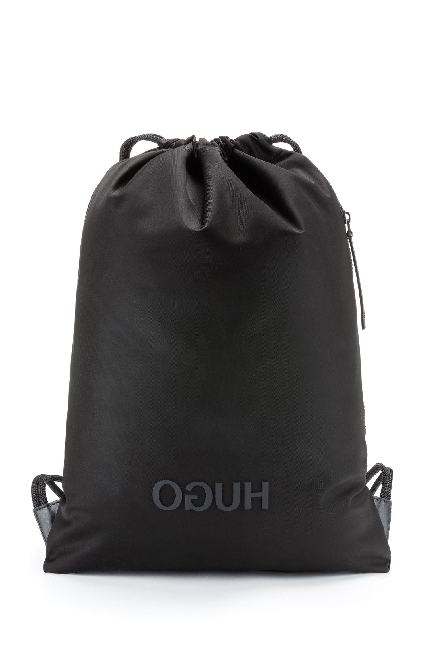 Hugo Boss - Mochila de cordones en tejido de gabardina de nylon con logo invertido - 1