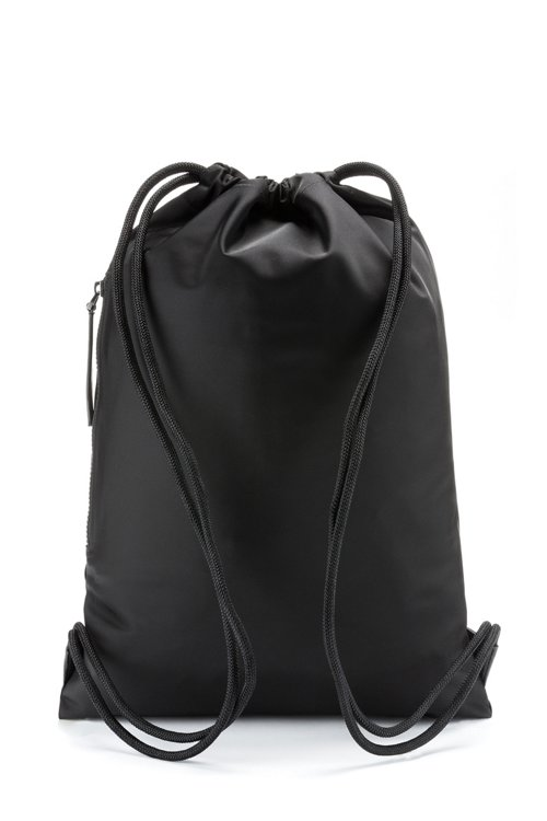 Hugo Boss - Drawstring backpack in nylon gabardine with reverse-logo print - 5