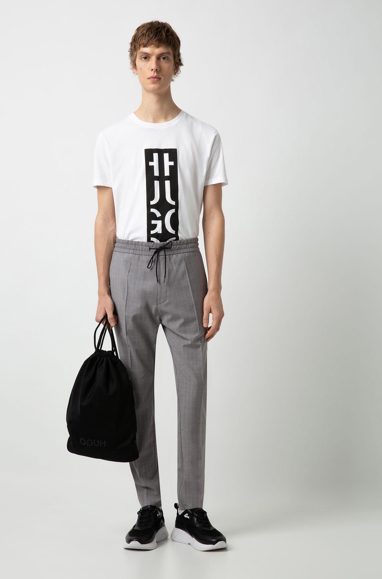 Hugo Boss - Mochila de cordones en tejido de gabardina de nylon con logo invertido - 2