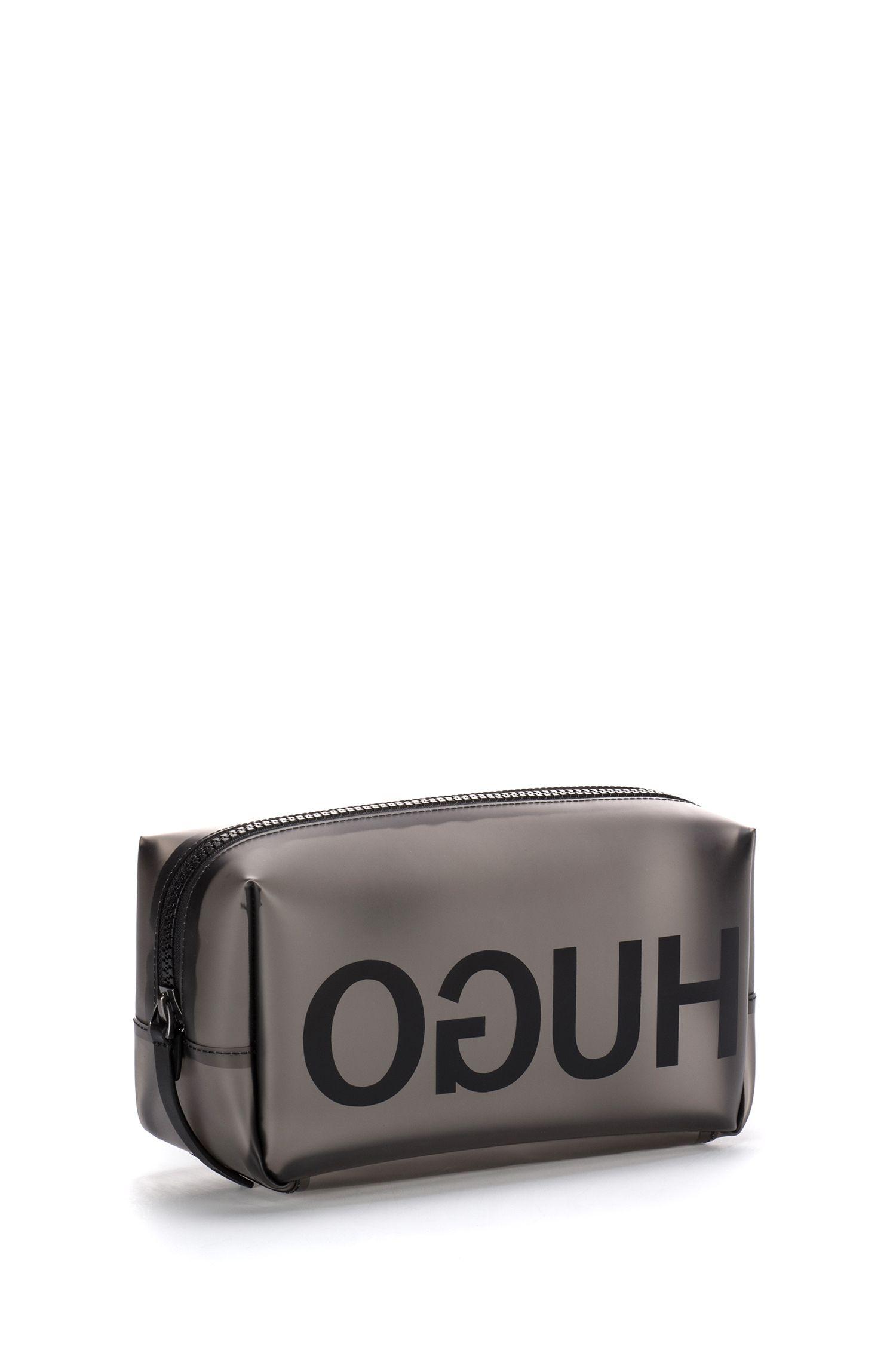 Translucent washbag with reversed logo, Transparent
