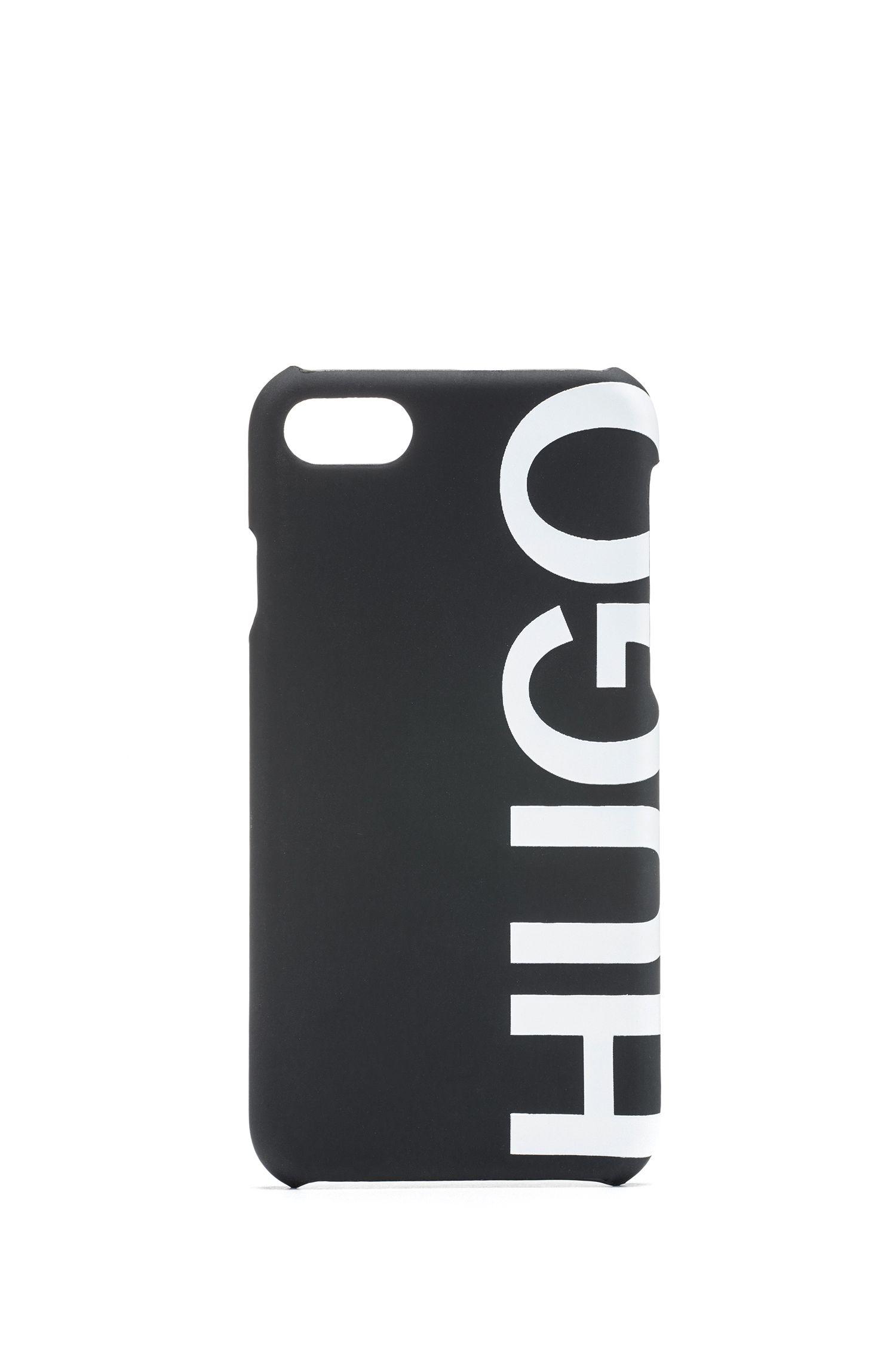 Smartphone-Hülle mit abgeschnittenem Logo für das iPhone8, Schwarz