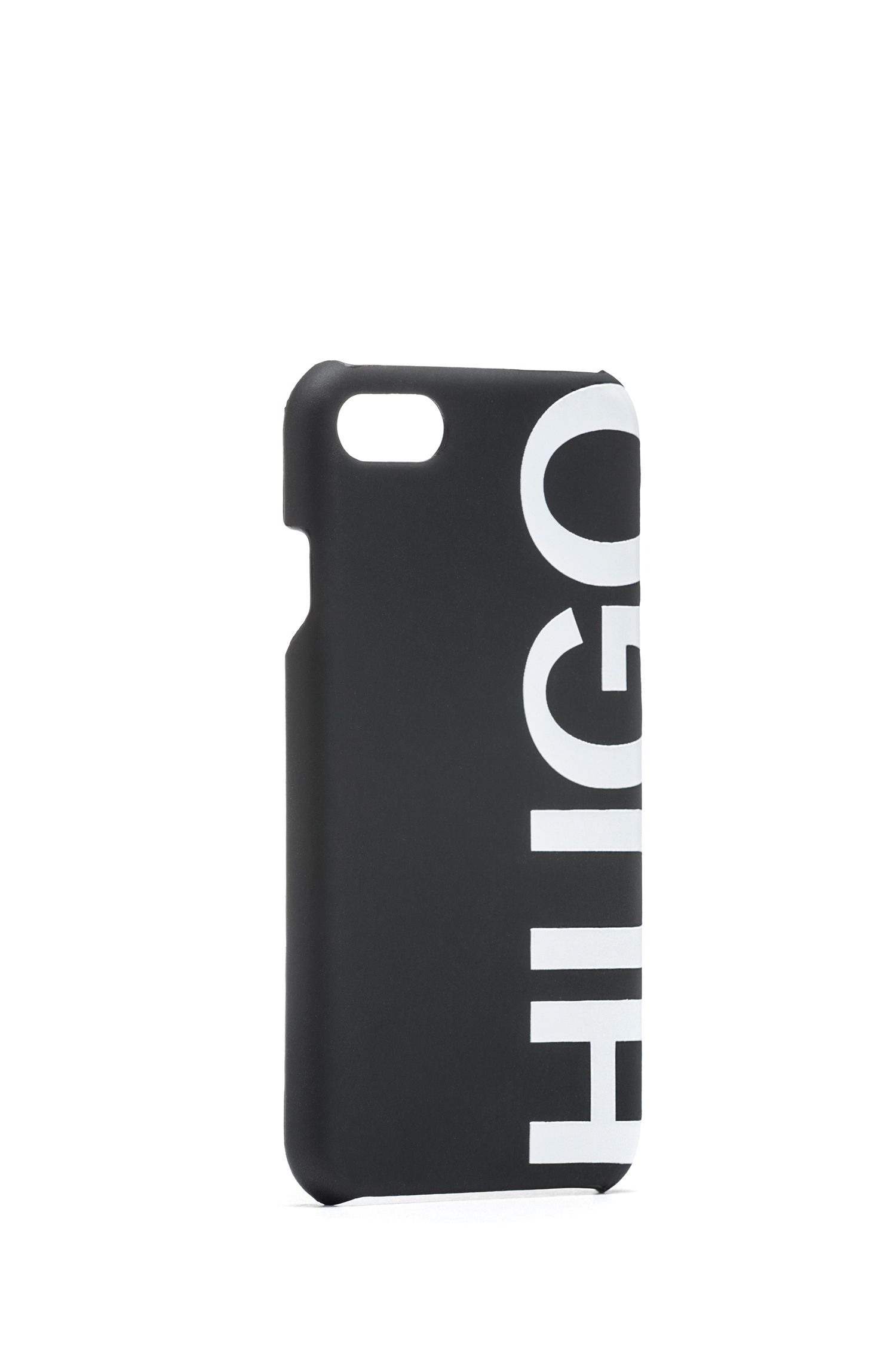 iPhone 8 smartphone case with cropped logo, Black