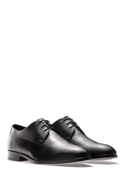 Hugo Boss - Derby shoes in calf leather with signature details - 2