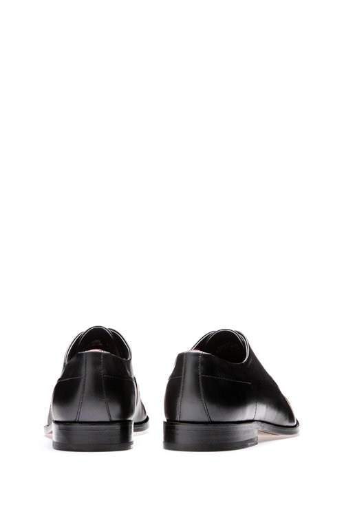 Hugo Boss - Derby shoes in calf leather with signature details - 5