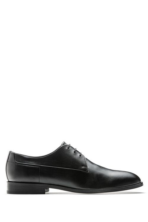 Hugo Boss - Derby shoes in calf leather with signature details - 1