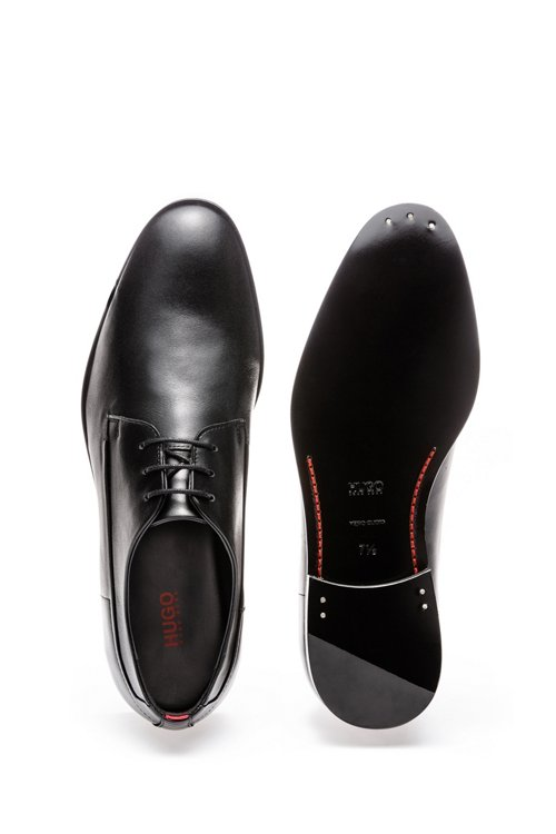 Hugo Boss - Derby shoes in calf leather with signature details - 4