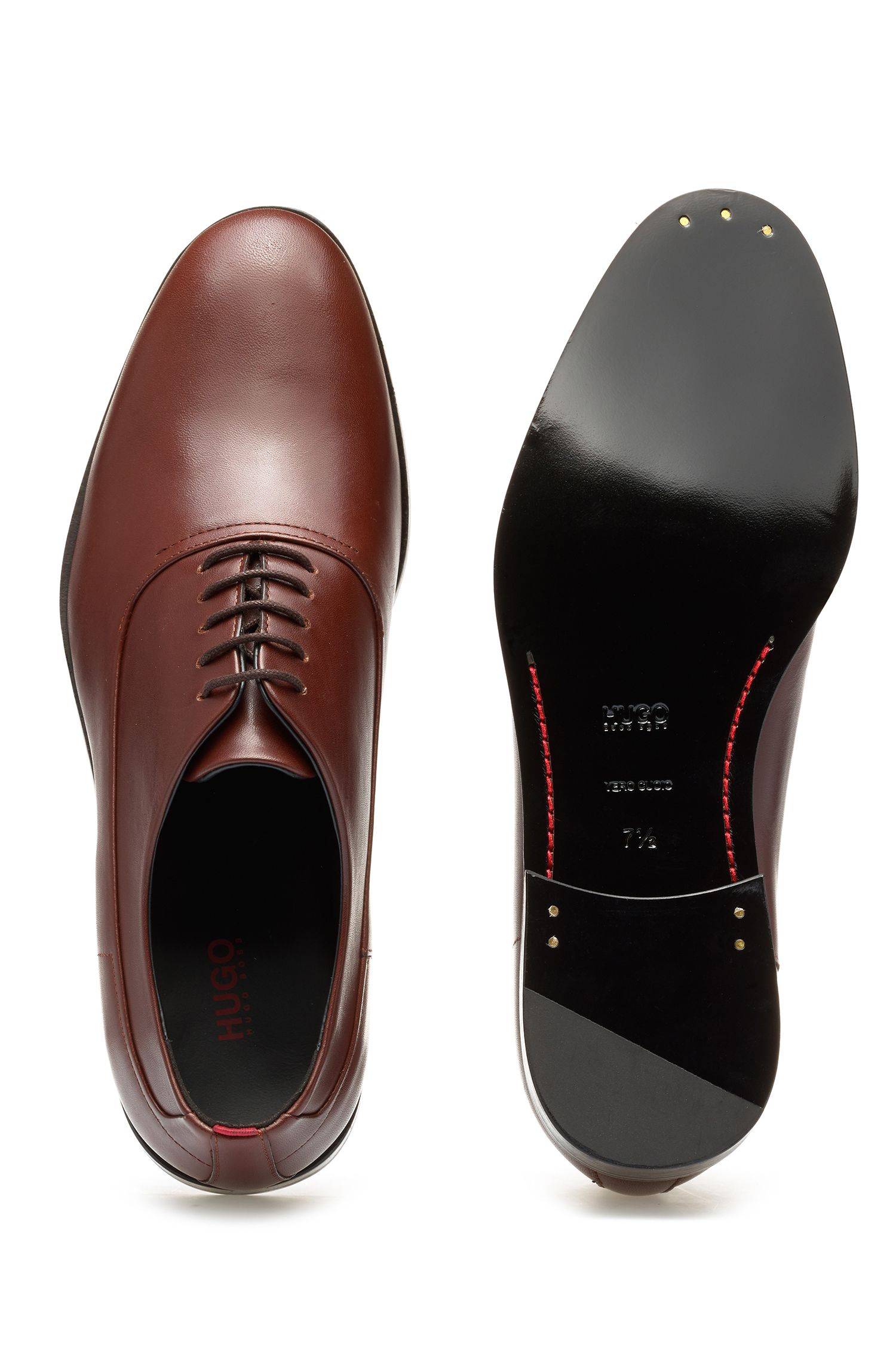 Oxford shoes in box calf leather, Brown