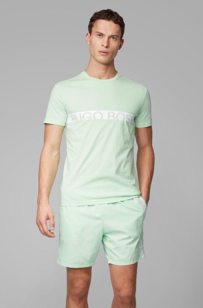 T-shirt slim fit con logo e finitura UPF50+